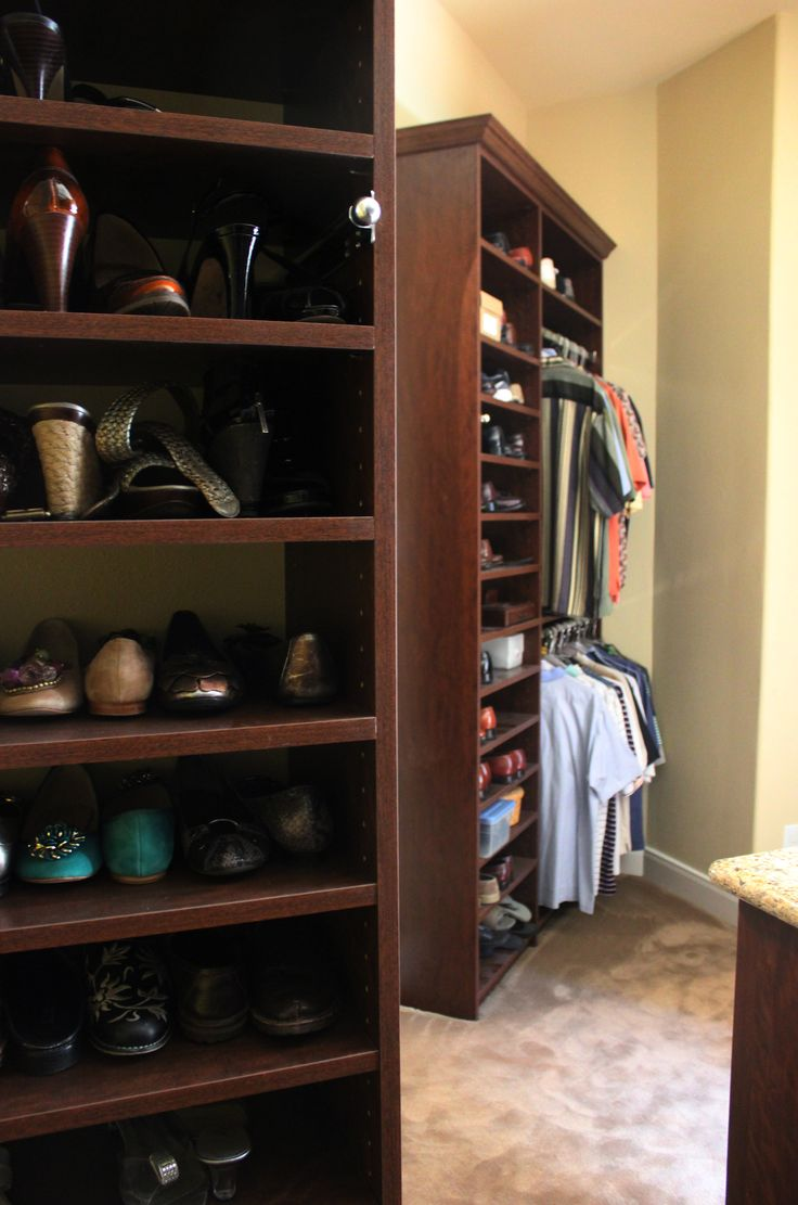 Get More Shoe Storage And Clothing Organization With An Affordable Custom  Closet System // #