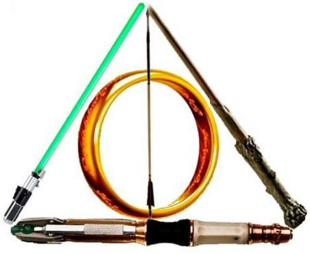 Fandom Deathly Hallows - Star Wars, Hunger Games, Lord of the Rings, Harry Potter, and Dr. Who.