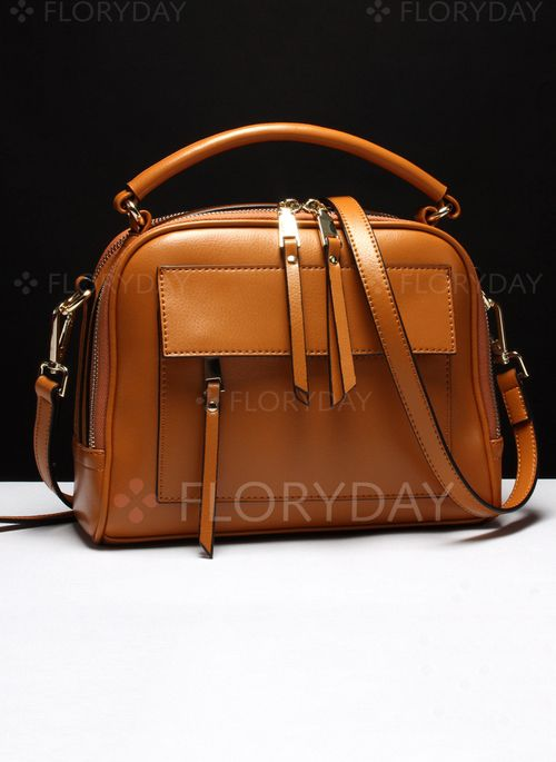 Bags - $61.92 - Shoulder Fashion Real Leather Black Brown Lime Green Medium Bags (1825101566)