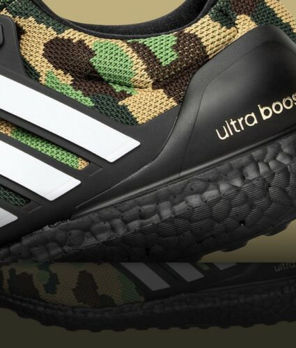 17407b3dc7fe7 Details about Adidas X Bape Ultra Boost 4.0 Green Camo F35097 8-13 ...