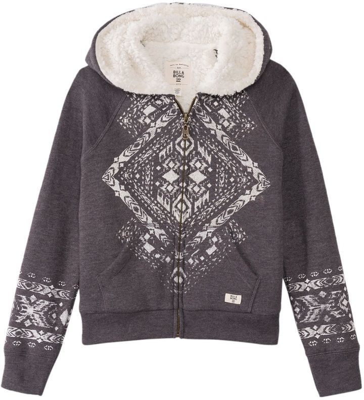 Billabong Girls' Wild Soul Zip Up Hoody (714) - 8149831
