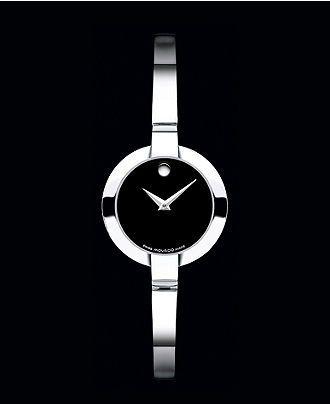Movado Watch, Women's Swiss Bela Stainless Steel Bangle Bracelet 24mm 0605853 - All Watches - Jewelry & Watches - Macy's