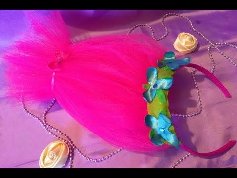 Trolls Movie DIY Craft: How to Make Toll Hair Headbands - YouTube