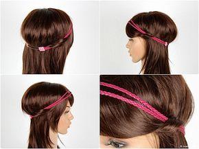 Haarband aus geflochtenem Leder - Da ich einfach nicht fündig geworden bin, habe ich mich am Ende dazu entschlossen, mir selbst Haarbänder aus Leder zu nähen. Die Haarbänder  aus Leder sind schnell genäht und die Farbauswahl bei Lederbändern, ob nun einfach oder direkt geflochten sind um einiges vielfältiger.