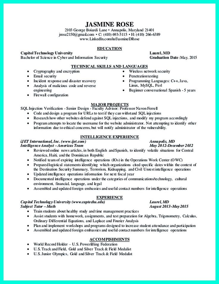 2695 best images about resume sample template and format With cyber security sample resume