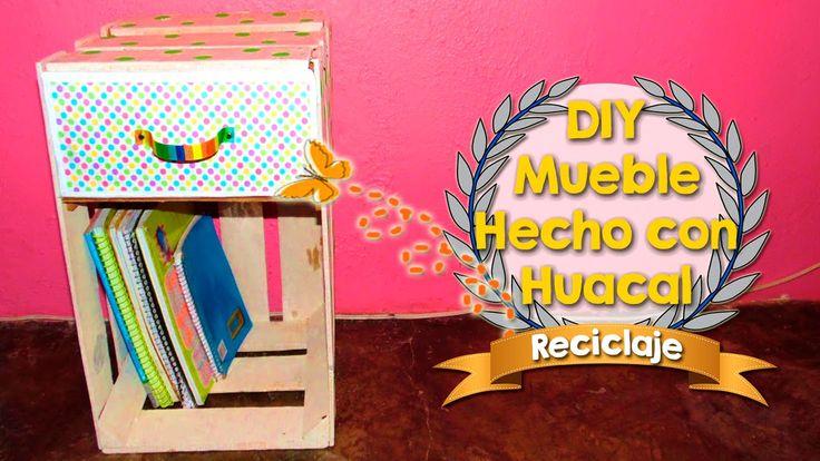DIY   Mueble Hecho con huacal de madera   Medio