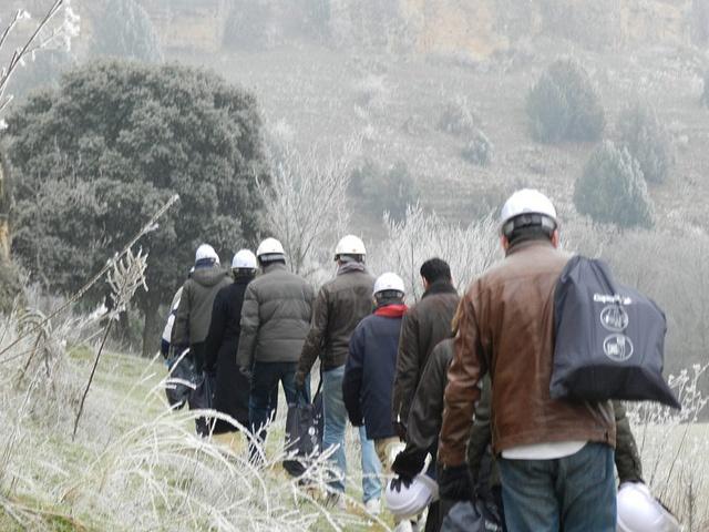 Evento de espeleología y globos en Segovia, 11 de diciembre de 2012