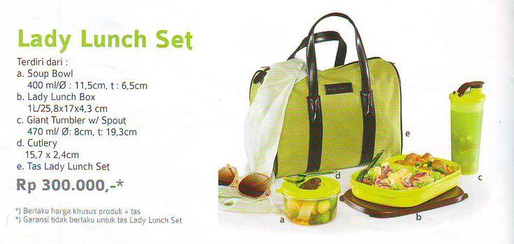 Lady Launch Set (2) Tupperware Katalog Promo Murah |