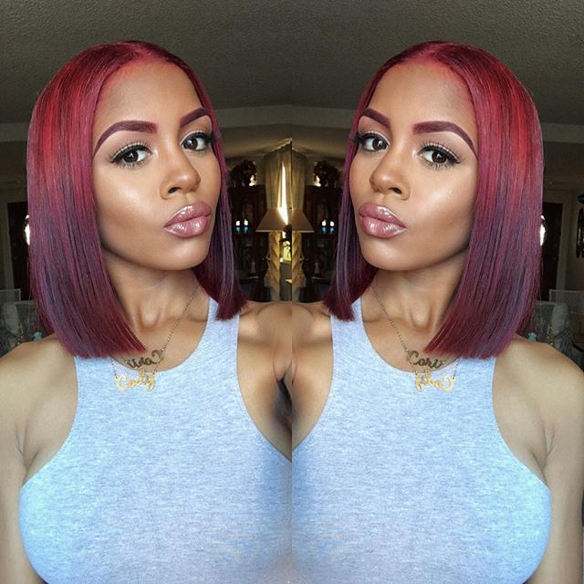 Code red Bob- so considering this. Maybe a weave, so I don't need to cut my own hair. <3