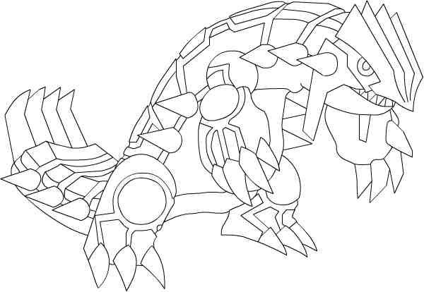 Groudon Para Colorear Pokemon Coloring Pages Pokemon Coloring