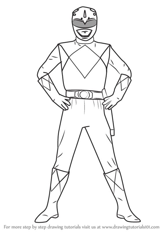 Learn How to Draw Blue Ranger from Power Rangers (Power
