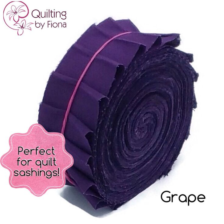 A personal favourite from my Etsy shop https://www.etsy.com/listing/231374609/20-grape-purple-precut-honey-bun-fabric