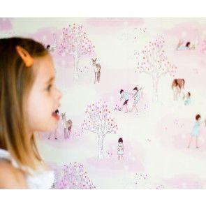 Pop & Lolli - Sarah Jane Wander Woods Wall Paper - Pink