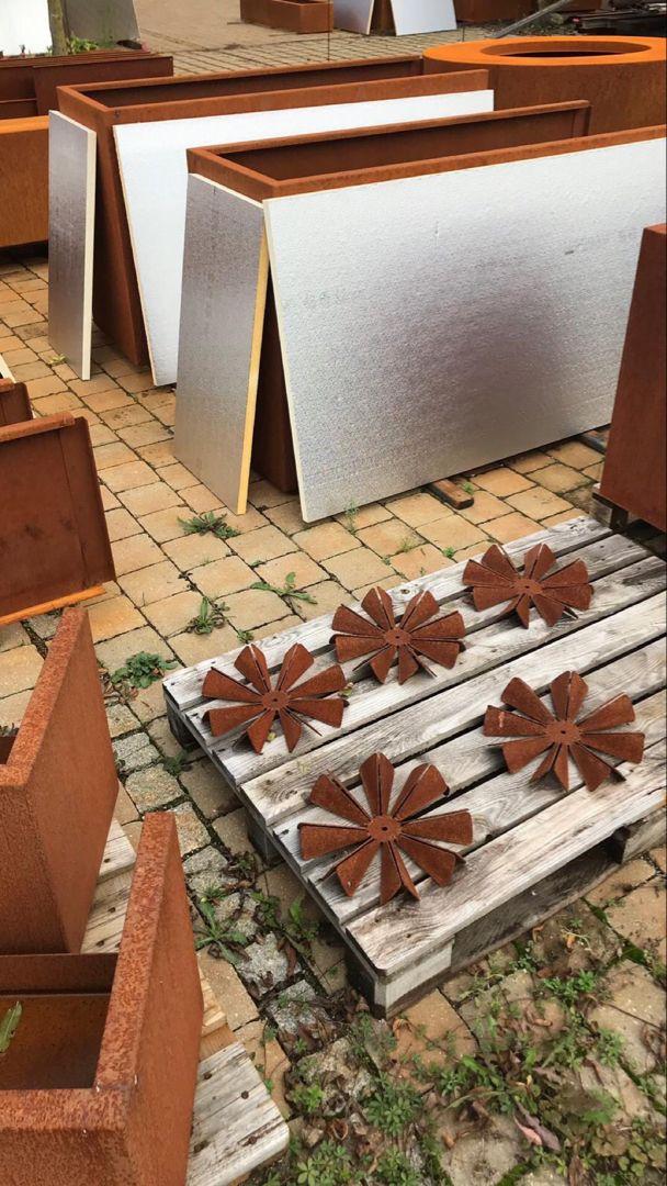 Pin Von Ums Metall Manufaktur Auf Cortenstahl Pflanzgefasse Hochbeet Und Haus Und Garten