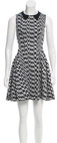 Kenzo Houndstooth A-Line Dress
