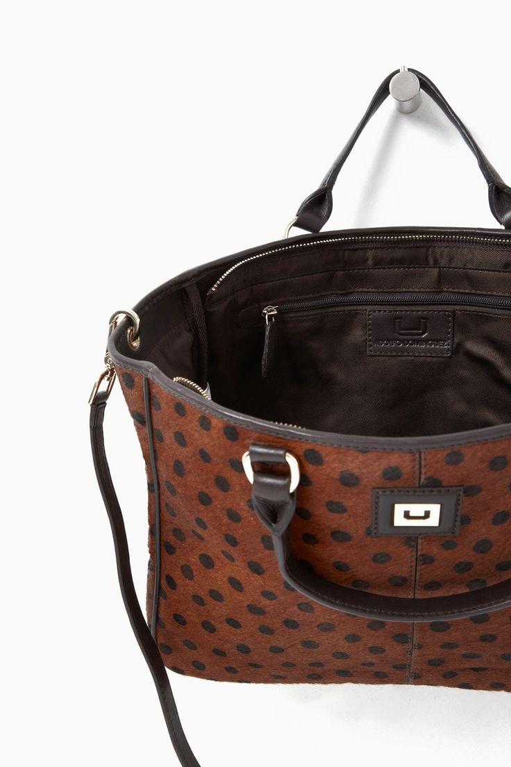 Bolso Cheetah Dot estilo capazo - Maxi Bolsos | Adolfo Dominguez shop online