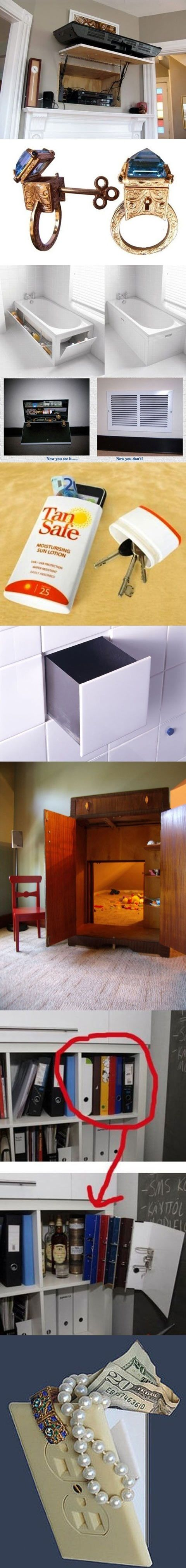 Clever places to hide your money… - Onestophumour