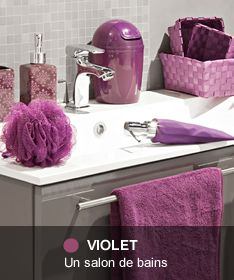 19 best images about salle de bain violet on pinterest baroque cuisine and chic. Black Bedroom Furniture Sets. Home Design Ideas