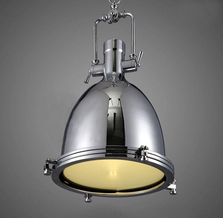 NEW Modern Industrial Retro Nautical Chrome Pendant Lamp Hanging Ceiling Light