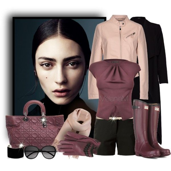 Purple, black, peach Outfit Idea 2017
