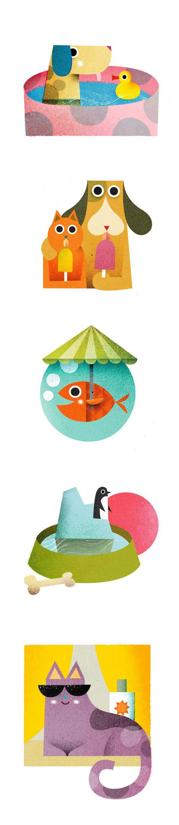 Philip Giordano - Spot illustrations for Martha Stewart Living Magazine on Behance