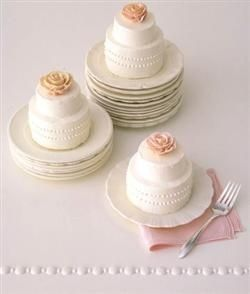 Miniature Wedding Cakes!! Cute for a bridal shower!!