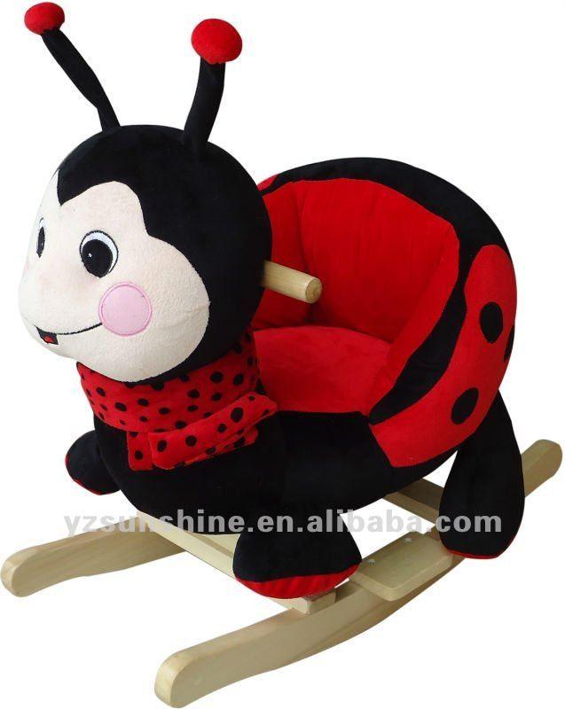Baby Rocker ladybug plush rocking chair, View baby rocker ladybug ...