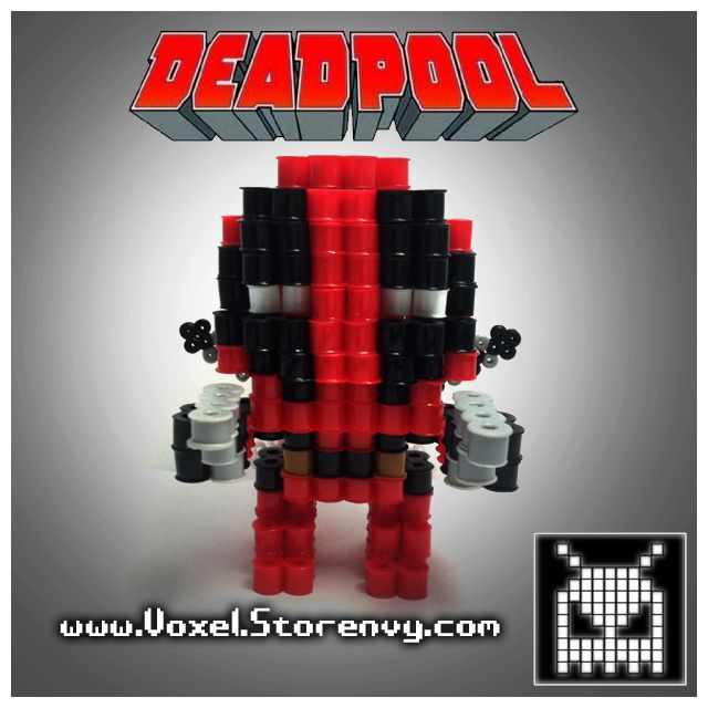 This is a Deadpool (Deadpool comic) I made in the cool new 3d perlerbead art style! It is for sale so you can add this to your collection today!  Products are made to order and do take about a week to make depending on the order, please be patient  (Like Voxel on Facebook!)  http://facebook....