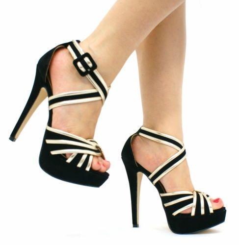 pumps schuhe damen sandalen hoher keilabsatz plateau. Black Bedroom Furniture Sets. Home Design Ideas