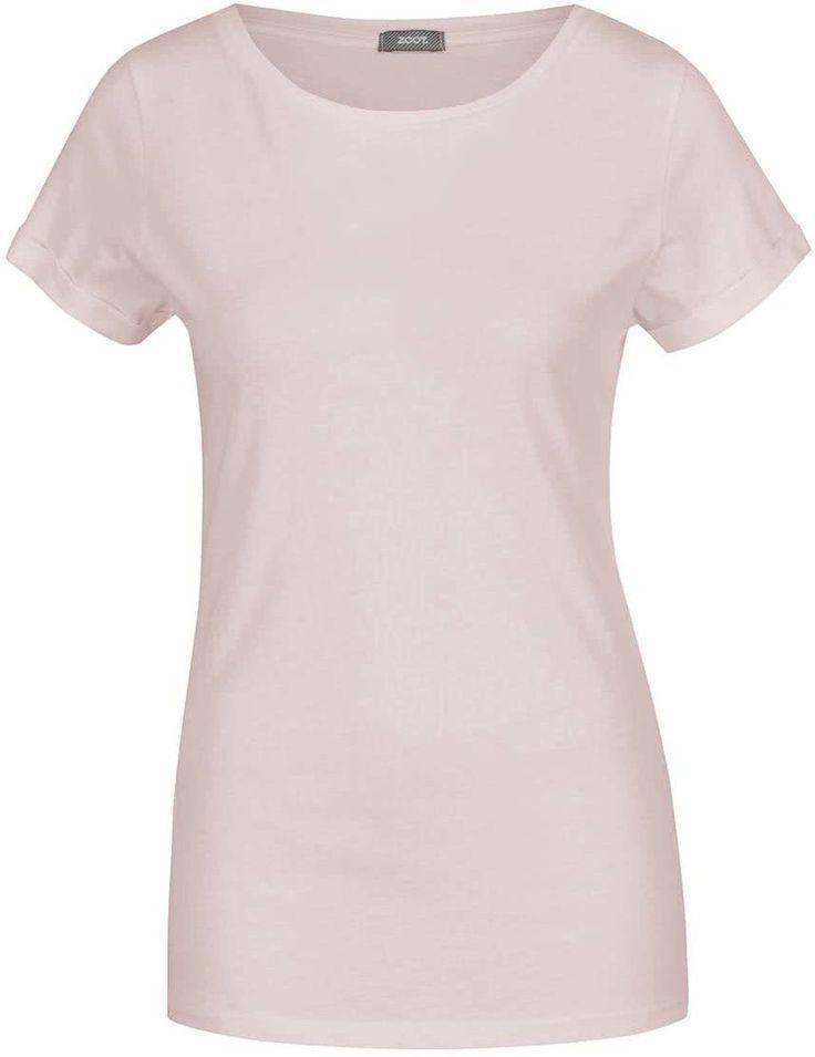 Svetloružové basic tričko s krátkam rukávom ZOOT