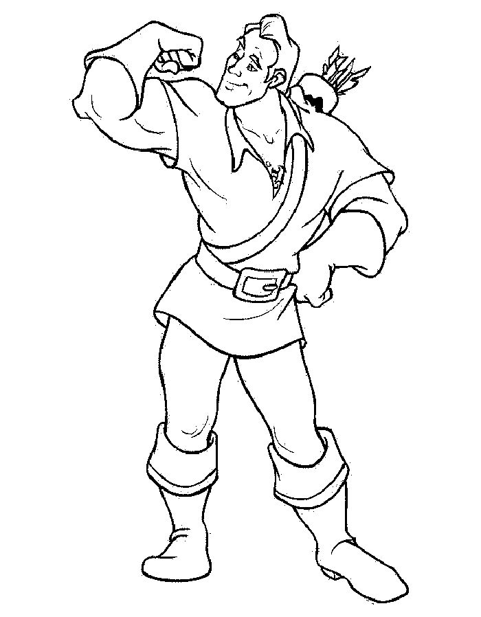 Beauty And The Beast Gaston Coloring Pages For Kids Printable