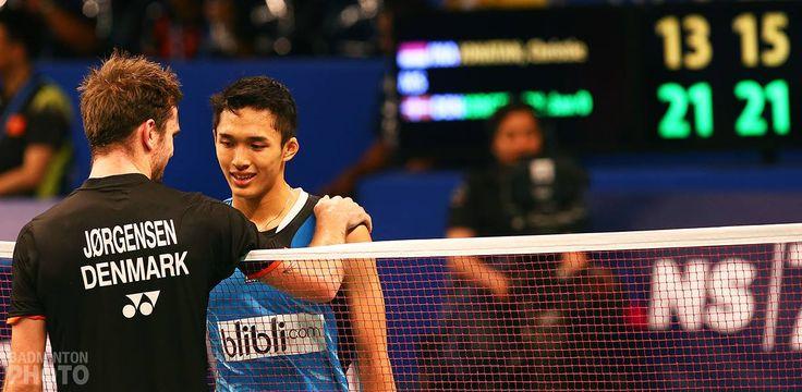 Jan O Jorgensen and Jonatan Christie, BCA Indonesia Open SSP 2015 - Quarter Final Round