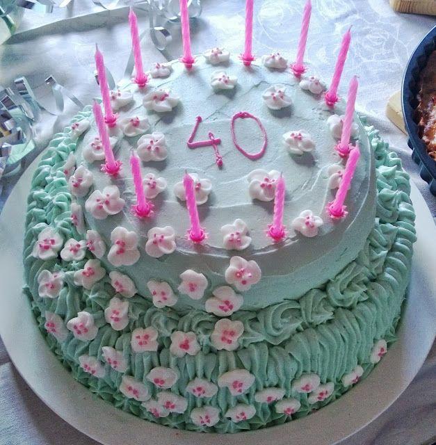 Kukkakakku Flower cake