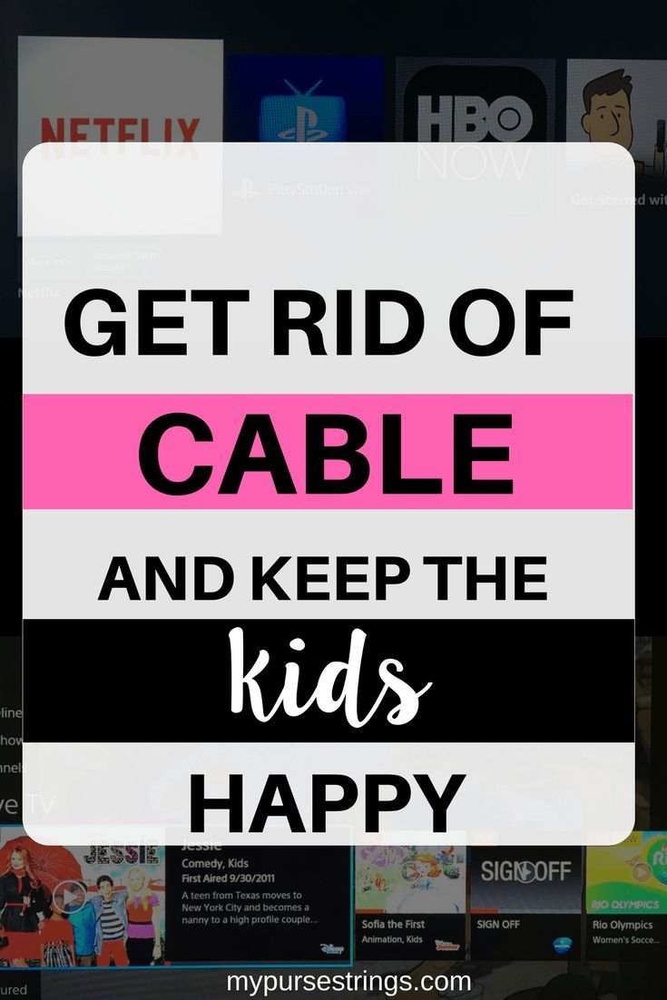 Everything you need to know about getting rid of cable. What you need, how to watch your favorite shows, keep your kids happy, and save money #psvue #roku #cordcutter #cabletv #momlife via @www.pinterest.com/mypursestrings