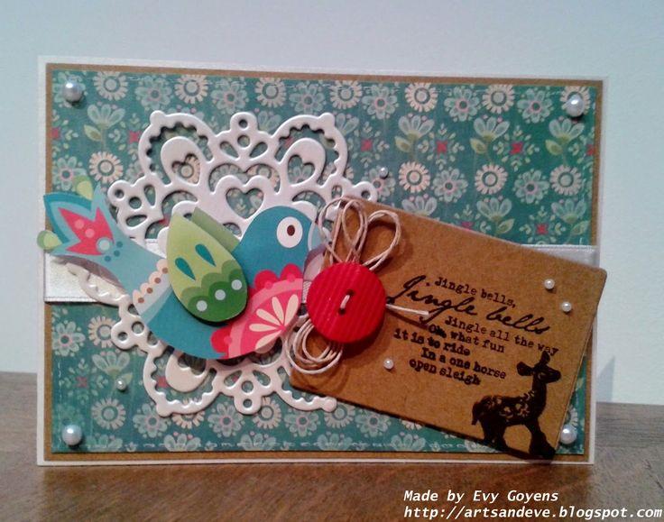 Arts amp Eve MD Elines Kerstvogeltjes Cards Tags