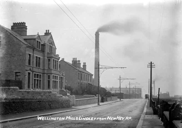 Wellington Mills, Lindley, 1910. Source: Kirklees Image Archive