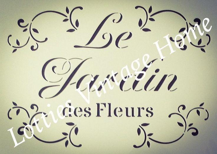 ❤️ STENCIL FRENCH A5 LE JARDIN DES FLEURS Furniture Fabric - Vintage Shabby Chic