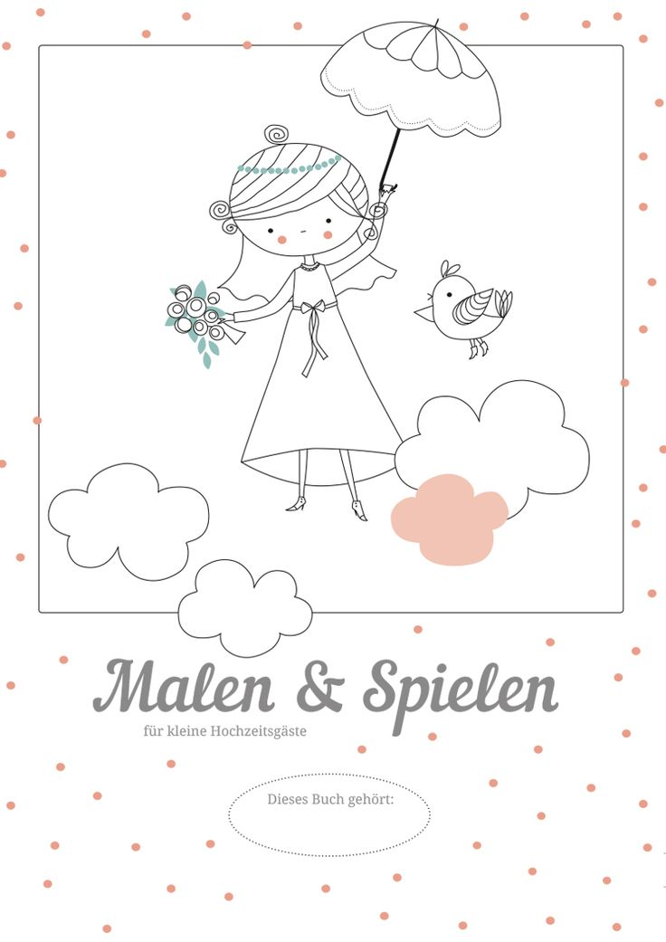 Wedding Coloring Book Printable – Free Download – Hochzeit