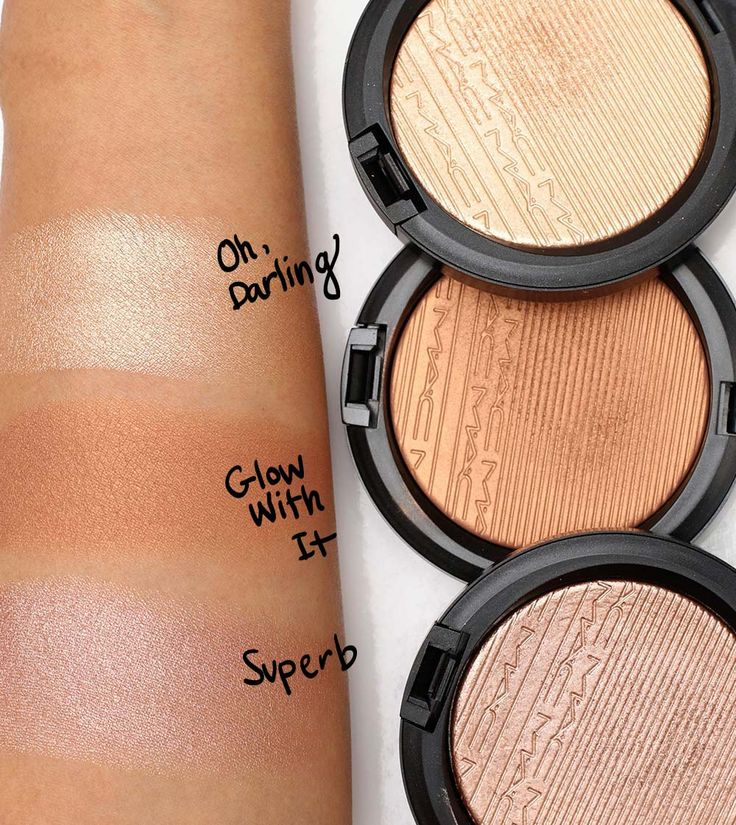 mac extra dimension skinfinish swatches 1
