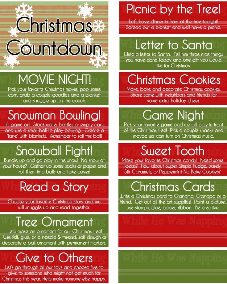While He Was Napping: {Printable} Kid's Christmas Countdown Jar