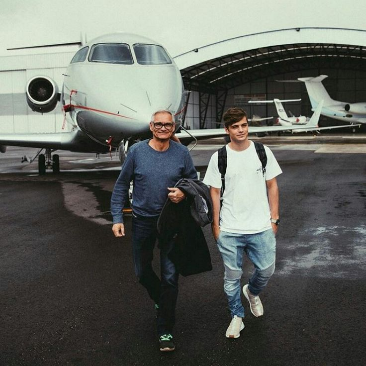 "Martijn with his dad. ""Papa Garrix""➕✖"