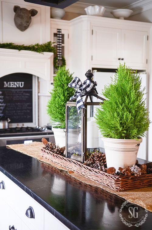 ALL THROUGH THE HOUSE CHRISTMAS KITCHEN TOUR Christmas Kitchen DecorationsFarmhouse