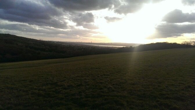 Yardley Hill, looking out onto Epping Forest and King George Reservoir, Chingford