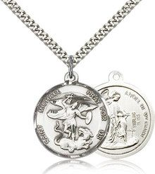 I was shopping with my husband when he caught sight of a St. Michael medal in a shop window. He seemed to take interest in the medal. I still haven't found a gift for my husband for Christmas this year. I'm sure that he would like to get a St. Michael medal for Christmas this year.