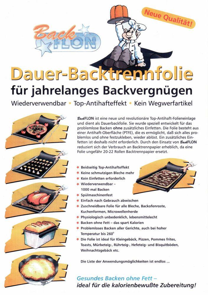 TOP Angebot -  3 x Backtrennfolie, Dauer-Backfolie,  33cm x 40cm
