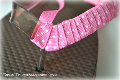 Ribbon Flip Flops (Adornabelle) 7