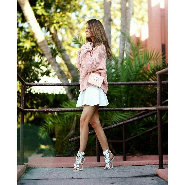 #instacool #instadaily #cute #nice #fashion #instalike #love #instamood #dailystyle #igers #fashionaddict #instagood #trend #style #amazing #streetstyle #bestoftheday #awesome #look #picoftheday #photooftheday #outfit #loveit #ootd #cool #pink #jumper #miniskirt #statementshoes #chic @nettenestea | Get2Style.com