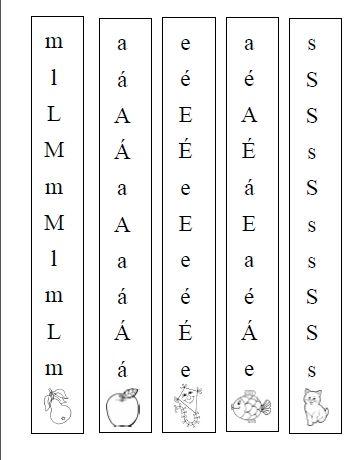 Sloupečky písmen na tvoření slabik