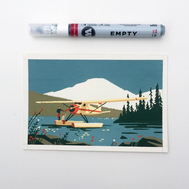#alaska #ketchikan #illustration #painting #acrylicmarkers
