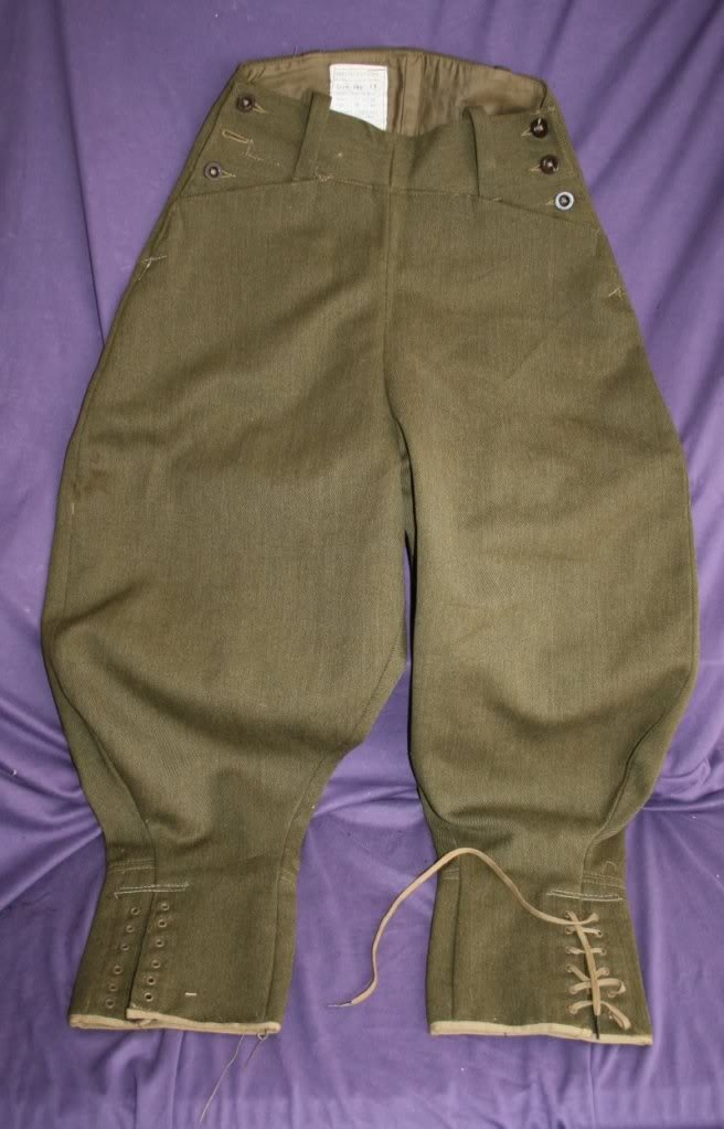Women's WW2 Land Army Breeches (1942). The whipcord breeches predated the corduroy breeches.